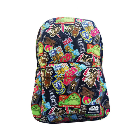 Loungefly Star Wars Sticker AOP Backpack