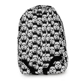 Loungefly Star Wars Storm Trooper Black and White Backpack Back