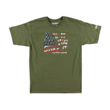 FMF Racing Men's Stole It T-Shirt Military Green