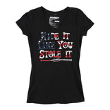 FMF Racing Women's Stole It V-neck T-shirt Black