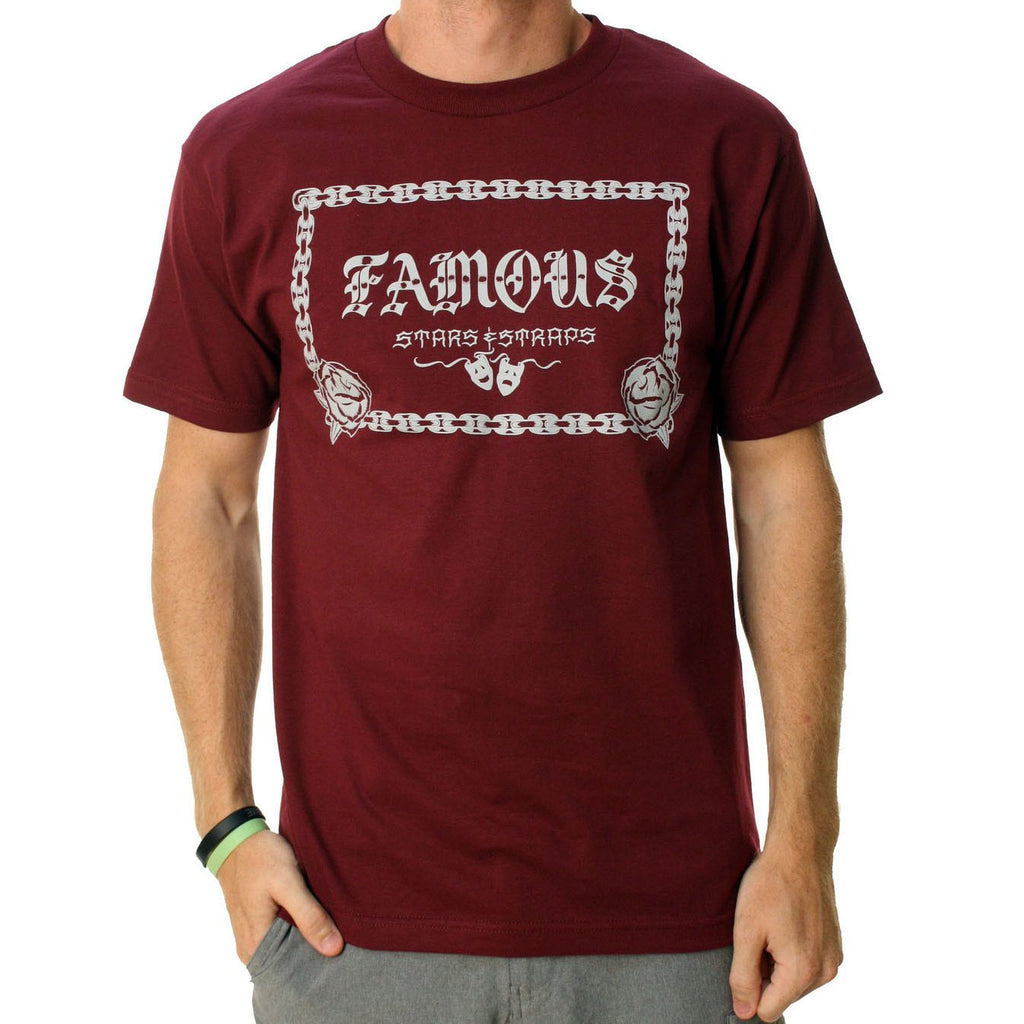 Famous Stars and Straps Street Style Tee Burgundy
