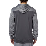 Fox Racing Men's Tearoff Zip Up Fleece Hoodie Grey Back