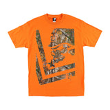 Metal Mulisha Men's Trail Realtree Camo Short Sleeve T-shirt Agent Orange