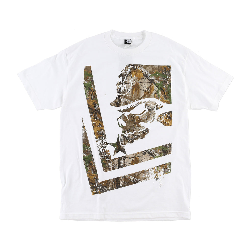Metal Mulisha Men's Trail Realtree Camo Short Sleeve T-shirt Optic White