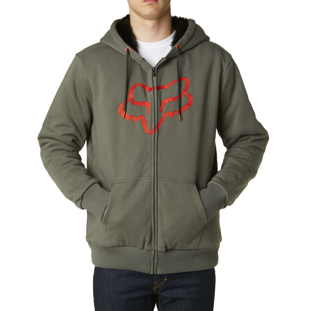 Fox Racing Men's Traxion Sasquatch Fleece Zip Up Hoodie Military