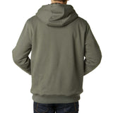 Fox Racing Men's Traxion Sasquatch Fleece Zip Up Hoodie Military Back