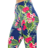 Vulcinity Tropical Floral Print Leggings