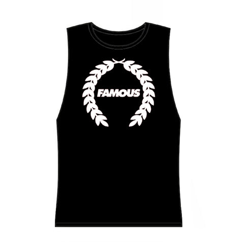 Famous Stars and Straps Juniors Turnt Wreath Muscle Tank Top