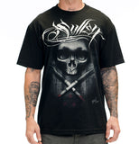 "Sullen ""Tyrrell Badge"" Skull Mens Tattoo Design Tshirt"