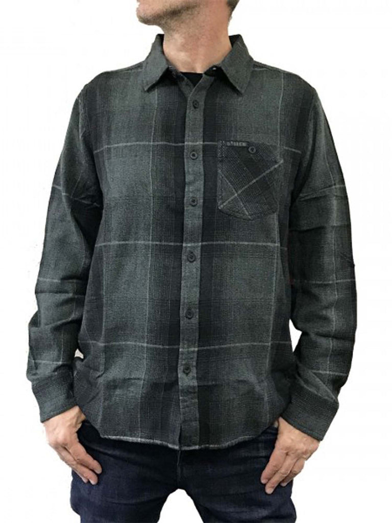 Sullen Men's Vapor Long Sleeve Flannel Button Down Shirt
