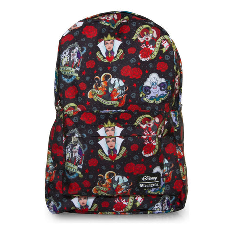 Loungefly Villains Tattoo AOP Backpack