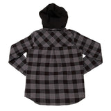 Metal Mulisha Women's Kiss Woven Button Down Hooded Flannel