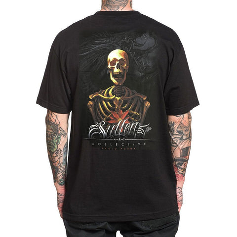 Sullen Men's Wrath Short Sleeve Skeleton Tattoo Tee
