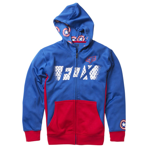 Fox Racing Marvel Captain America Child's Zip Up Hoodie