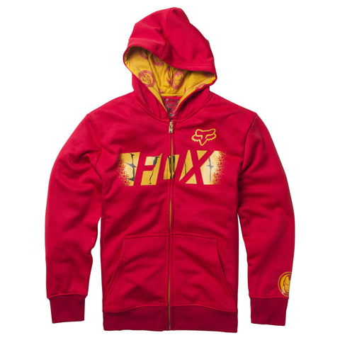 Fox Racing Marvel Iron Man Child's Zip Up Fleece Hoodie