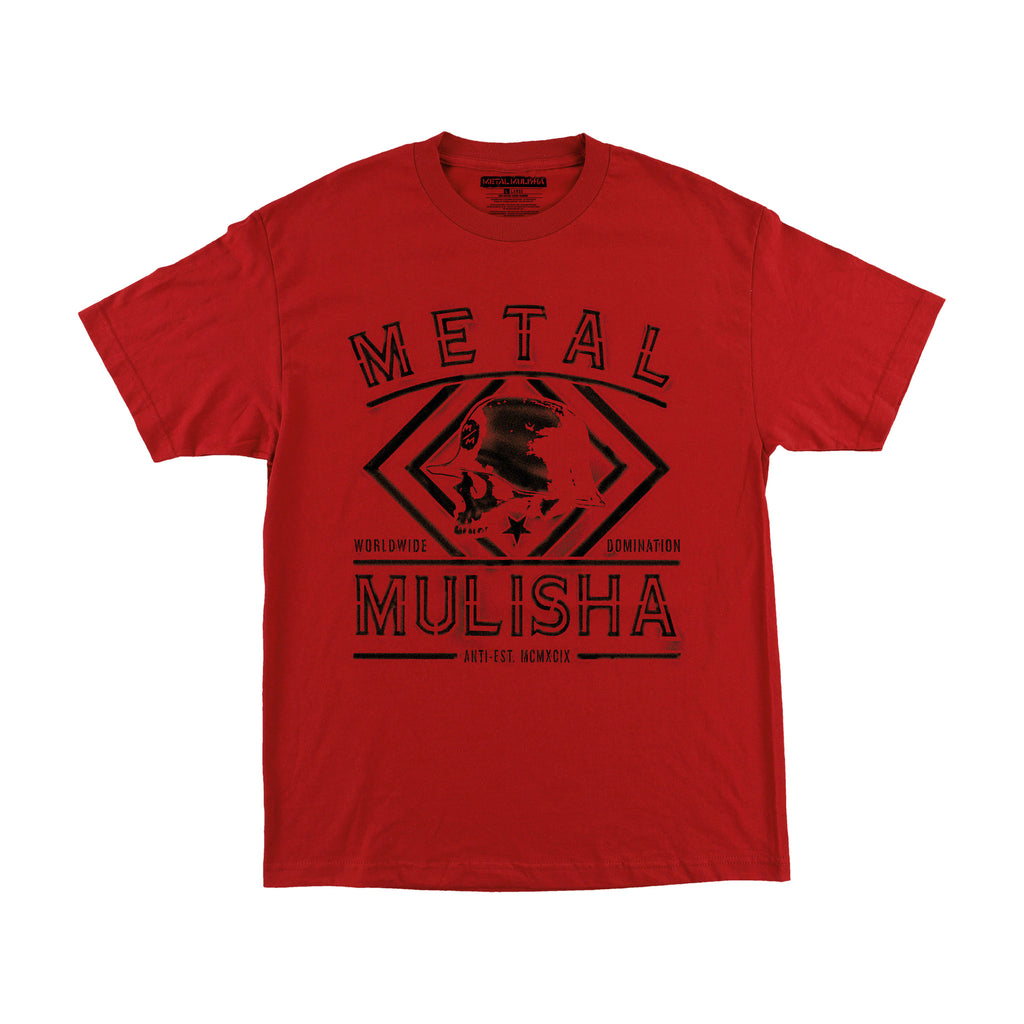 Metal Mulisha Men's Dust Tee Cardinal Red