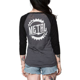 Metal Mulisha Women's Rider Burnout Raglan Back