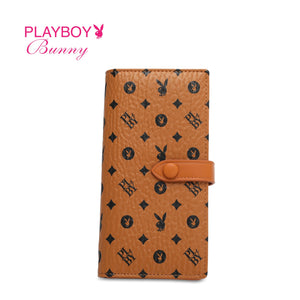 PLAYBOY BUNNY LADIES MONOGRAM LONG PURSE EVALINA