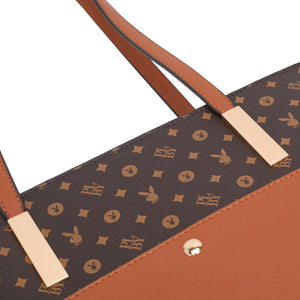 PLAYBOY BUNNY LADIES TOTE BAG EMILIA BROWN