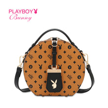 Load image into Gallery viewer, PLAYBOY BUNNY LADIES TOP HANDLE MONOGRAM SLING BAG ELISSA