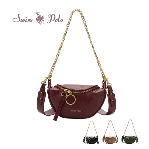 SWISS POLO LADIES CHAIN SLING BAG NATHALIE