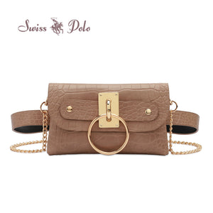 SWISS POLO LADIES CHAIN SLING BAG/WAIST BAG PAULA