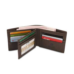 WILD CHANNEL GENUINE LEATHER RFID SHORT WALLET NW 001-5 KHAKI