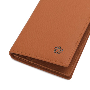 WILD CHANNEL GENUINE LEATHER RFID LONG WALLET NW 002-1 LIGHT BROWN