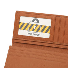 Load image into Gallery viewer, WILD CHANNEL GENUINE LEATHER RFID LONG WALLET NW 002-1 LIGHT BROWN