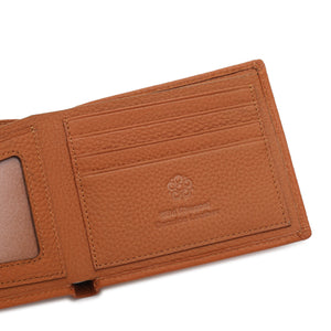 WILD CHANNEL GENUINE LEATHER RFID SHORT WALLET NW 002-6 LIGHT BROWN