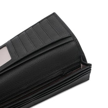 Load image into Gallery viewer, WILD CHANNEL GENUINE LEATHER RFID LONG WALLET NW 003-1 BLACK