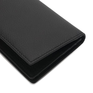 WILD CHANNEL GENUINE LEATHER RFID LONG WALLET NW 003-1 BLACK