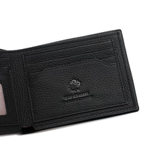 Load image into Gallery viewer, WILD CHANNEL GENUINE LEATHER RFID SHORT WALLET NW 003-2 BLACK
