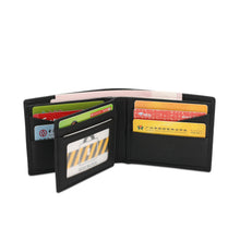 Load image into Gallery viewer, WILD CHANNEL GENUINE LEATHER RFID SHORT WALLET NW 003-3 BLACK