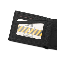 Load image into Gallery viewer, WILD CHANNEL GENUINE LEATHER RFID SHORT WALLET NW 003-6 BLACK