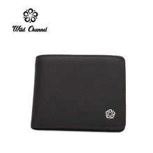 Load image into Gallery viewer, WILD CHANNEL GENUINE LEATHER RFID SHORT WALLET NW 004-4 DARK BROWN