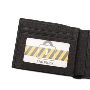WILD CHANNEL GENUINE LEATHER RFID SHORT WALLET NW 004-5 DARK BROWN