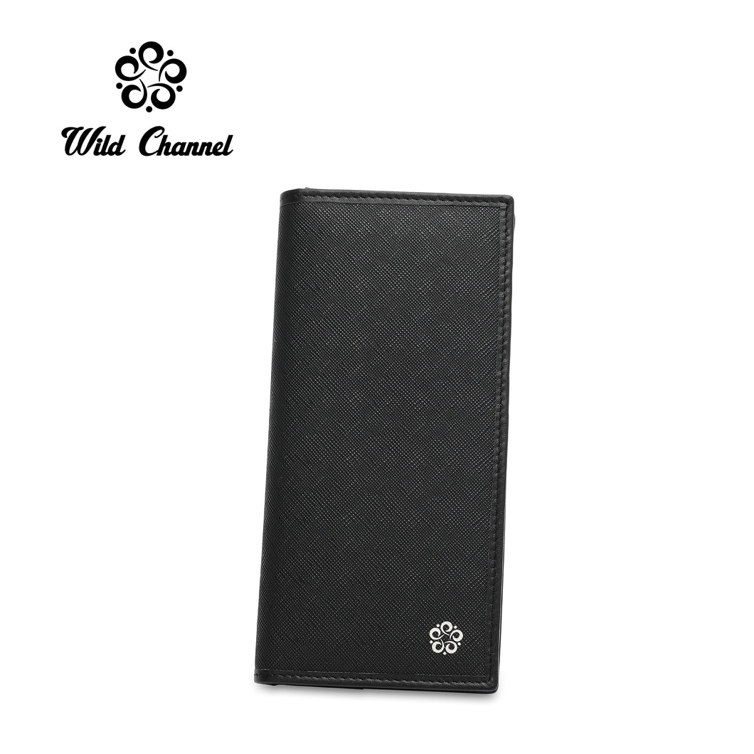 WILD CHANNEL RFID LONG WALLET NW 005-1 BLACK