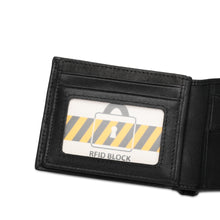 Load image into Gallery viewer, WILD CHANNEL RFID SHORT WALLET NW 005-3 BLACK