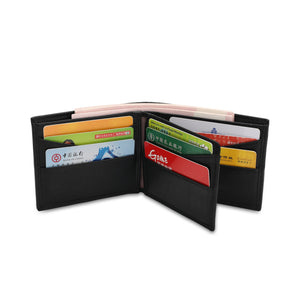 WILD CHANNEL RFID SHORT WALLET NW 005-3 BLACK