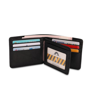 WILD CHANNEL RFID SHORT WALLET NW 005-4 BLACK