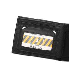 Load image into Gallery viewer, WILD CHANNEL RFID SHORT WALLET NW 006-2 BLACK