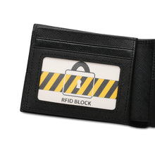 Load image into Gallery viewer, WILD CHANNEL GENUINE LEATHER RFID SHORT WALLET NW 007-5 BLACK