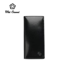 Load image into Gallery viewer, WILD CHANNEL RFID BLOCKING LONG WALLET NW 008-1 BLACK