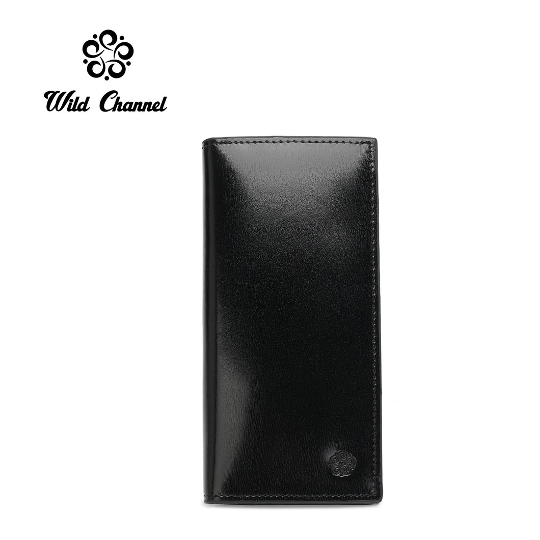WILD CHANNEL RFID BLOCKING LONG WALLET NW 008-1 BLACK