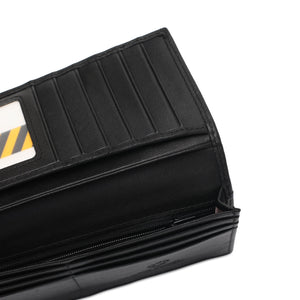 WILD CHANNEL GENUINE LEATHER RFID LONG WALLET NW 009-1 BLACK