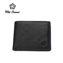 Load image into Gallery viewer, WILD CHANNEL GENUINE LEATHER RFID SHORT WALLET NW 009-3 BLACK