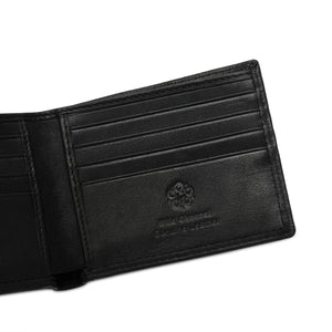 WILD CHANNEL GENUINE LEATHER RFID SHORT WALLET NW 009-3 BLACK