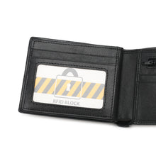 Load image into Gallery viewer, WILD CHANNEL GENUINE LEATHER RFID SHORT WALLET NW 015-4 BLACK