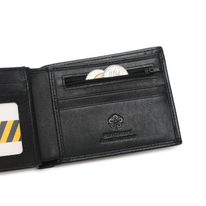 WILD CHANNEL GENUINE LEATHER RFID SHORT WALLET NW 015-4 BLACK